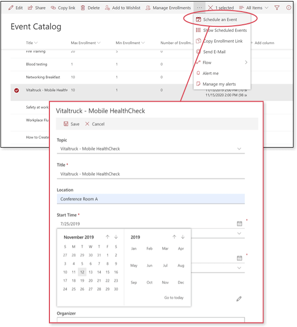 Event Planning on SharePoint