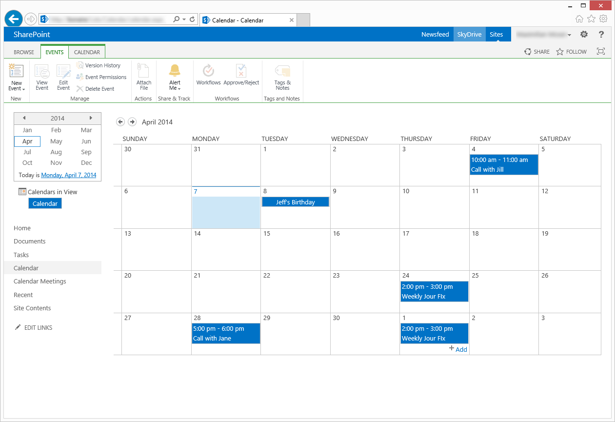 Invite Attendees From SharePoint Calendar