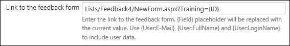 Link to feedback form 2