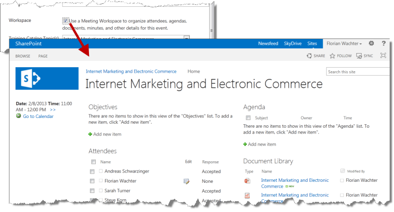 Sharepoint 2013 meeting workspace template image for Sharepoint 2013 meeting workspace template