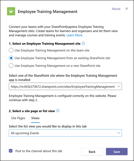 Select an Employee Training Management site