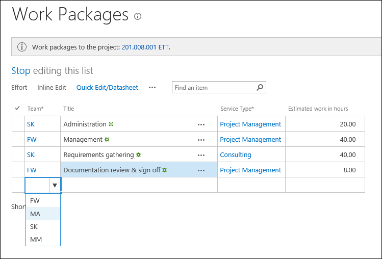 Sharepoint Project Management And Time Tracking User Guide