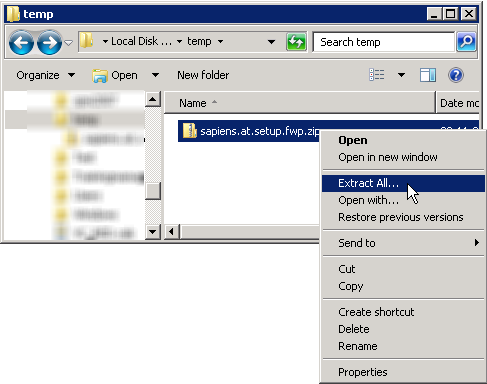 Extract the SharePoint Filter Web Part Setup