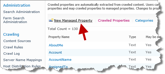 New Managed Properties