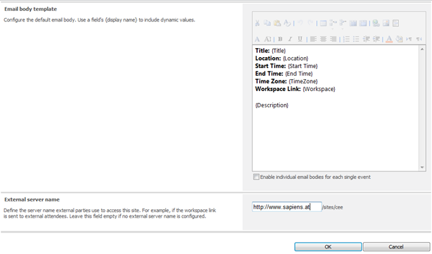 Configure Email Body Template