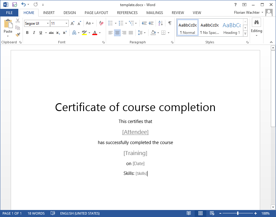 How to: Create a training certificate in SharePoint automatically
